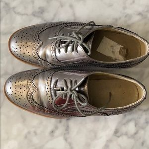 Wanted silver gray shoes